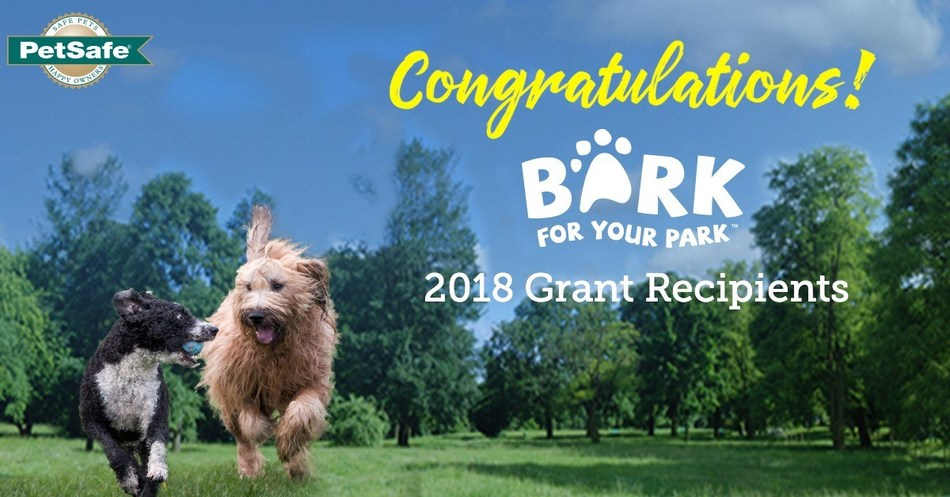 PetSafe® brand, a global leader in innovative pet product solutions, announced the names of 13 new cities as grant recipients of its 2018 PetSafe® Bark for Your Park™ campaign.