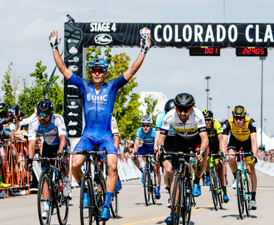 The 2018 Colorado Classic wrapped up with Stage 4 - a circuit race around downtown Denver on a 9.1-mile course that started and finished at the Velorama Festival and sent racers around Coors Field, through North Capitol Hill and Uptown to City Park. Gavin Mannion secured the biggest victory of his career; and Ty Magner and Joseph Lewis followed in second and third, respectively.
