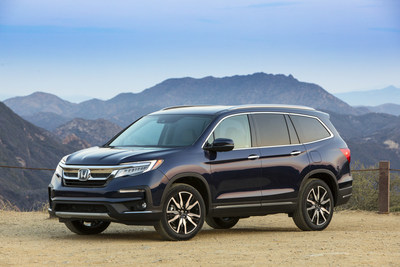 2019 Honda Pilot Named Top Safety Pick+ by IIHS