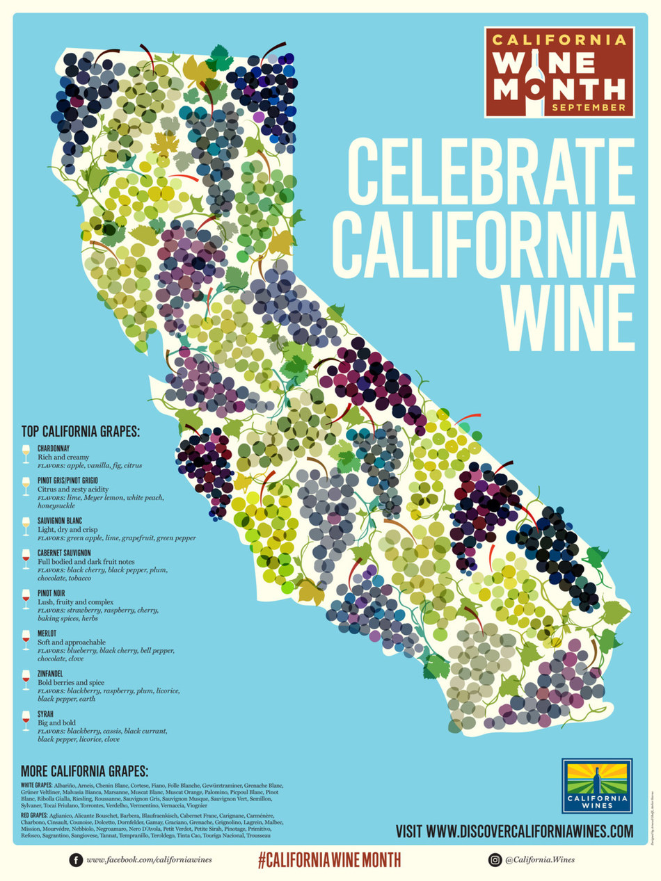 Visitors can enjoy California Wine Month in September with 70 harvest season wine events. California is the number one wine producer in the U.S. and the fourth largest worldwide. (PRNewsfoto/Wine Institute)