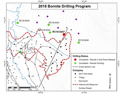 Figure 1. Location of 2018 Bornite Drilling (CNW Group/Trilogy Metals Inc.)