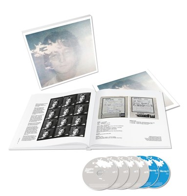 """John Lennon's iconic 'Imagine' album celebrated with six-disc 'Ultimate Collection"""" box set on October 5. Comprehensive set features new remastered 'Ultimate' stereo mix, 'Raw Studio Mixes,' unreleased outtakes, extended versions and 5.1 surround sound for the ultimate deep listening experience."""