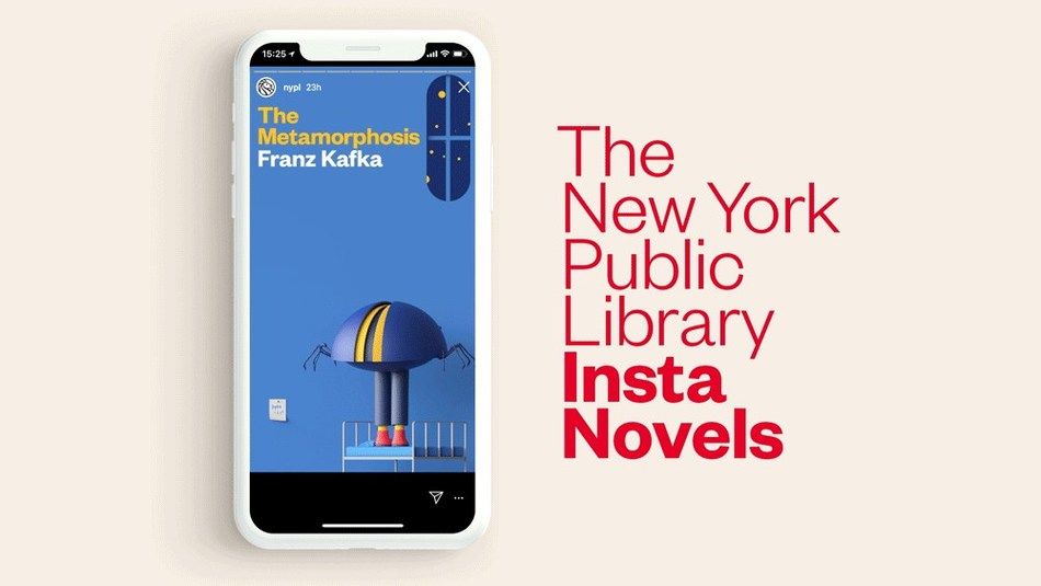 "Metamorphosis ""Insta Novel"" for The New York Public Library by Mother. Illustration @cesarpelizer"