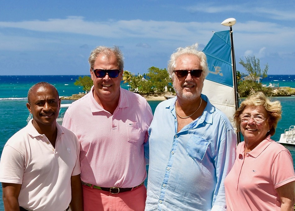 From Left To Right – Leonard Henry, General Manager Couples Tower Isle, Fred Pennekamp, Lee Issa, Chairman and Owner of Couples Resorts, Jamaica and Cynthia Pennekamp.