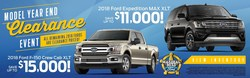During the Marshal Mize Ford Model Year End Clearance Event, running from now until Aug. 31, Chattanooga drivers are able to save big on a new 2018 Ford vehicle.