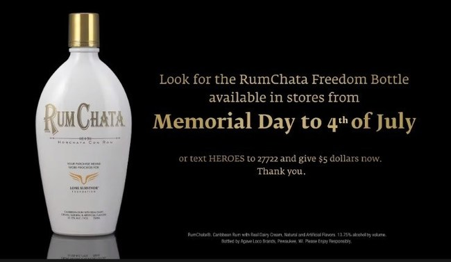 RumChata Freedom Bottle Campaign
