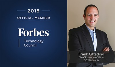 Frank Cittadino of QOS Networks accepted into Forbes Technology Council