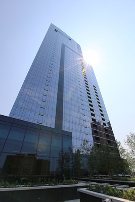 The exterior of the newly opened 414 Light Street in Baltimore's Inner Harbor. (PRNewsfoto/Questar Properties)