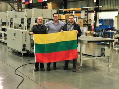 Picture [left – Sergej Trestin, (CEO) / centre – Andrew Slater, (General Manager-Maverick) /right - Viktoras Kovalenkinas, (Operations Manager)