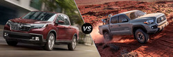 Customers can compare the new 2019 Honda Ridgeline to the 2018 Toyota Tacoma on the Continental Honda website.