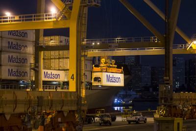 Matson cargo operations at its Honolulu Terminal.
