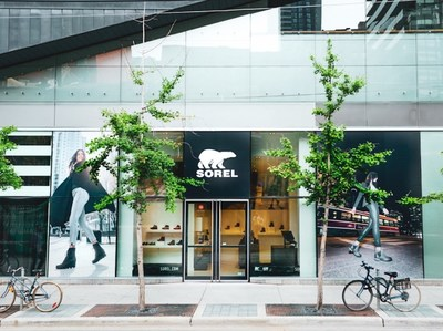 Toronto, ON : The entrance to The SOREL Store on King Street West just steps away from TIFF Bell Lightbox. (CNW Group/SOREL)
