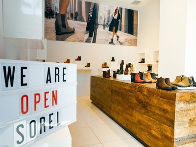 Toronto, ON : The SOREL Store is officially open as of Friday August 24, 2018 showcasing wedges, booties, block heels and more. (CNW Group/SOREL)