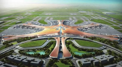 Overall aerial view of the Beijing's New Airport