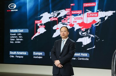 GAC Motor creó redes globales de ventas y servicios en 15 países y regiones (PRNewsfoto/GAC Motor)