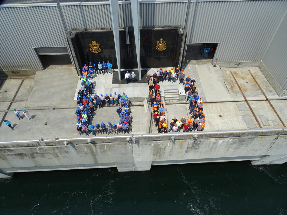 OPG and NYPA Employees Celebrate 60 Years of International Cooperation. (CNW Group/Ontario Power Generation Inc.)