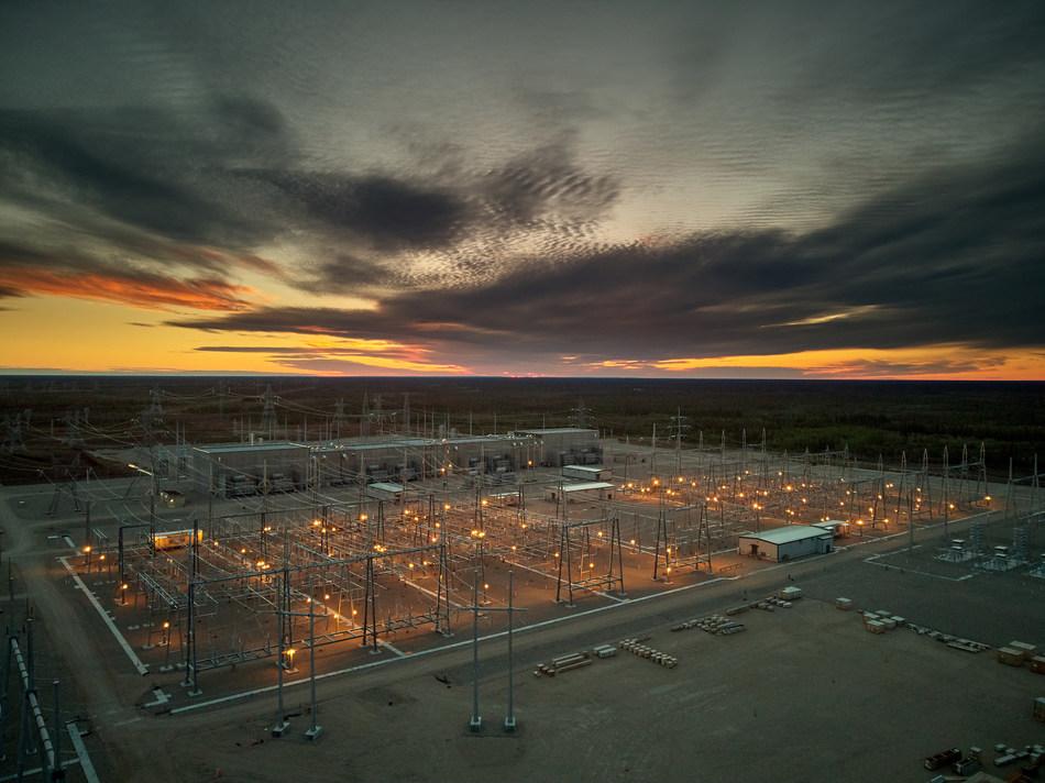 Keewatinohk Converter Station in northern Manitoba near Hudson Bay. (Photo Courtesy of Manitoba Hydro) (CNW Group/Siemens Canada Limited)