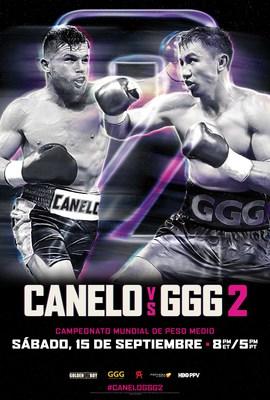 'Canelo vs. GGG 2' – La Histórica Revancha Entre Canelo Álvarez Y Gennady Golovkin – Estará En Vivo En La Pantalla Grande El 15 de Septiembre