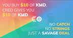 Get Cred App Celebrates Launch With Free Komodo (KMD) Coin Offering
