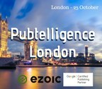Pubtelligence London at Google Offices in London on 23 of October. Publishers-only event hosted by Ezoic. (PRNewsFoto/Ezoic)