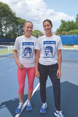 Caroline Wozniacki and Garbine Muguruza join adidas and Billie Jean King to create change for girls sport ahead of the US Open