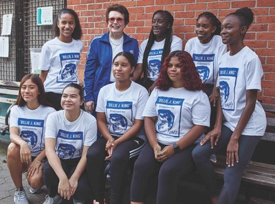 Billie Jean King meets with young female athletes from New York City to launch adidas Here to Create Change campaign