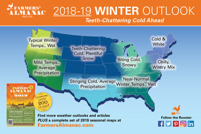 Farmers' Almanac Forecasts a Teeth-Chattering Cold Winter