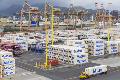Matson vessel Mahimahi at its Honolulu Terminal - 25 August 2018