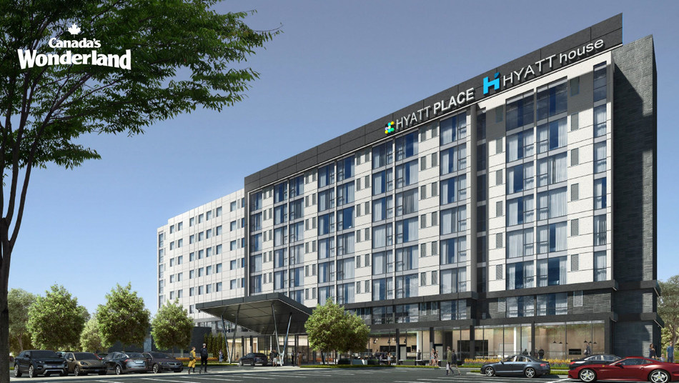 The dual-branded Hyatt House and Hyatt Place Vaughan at Canada's Wonderland will feature accommodations attractive to park guests as well as business and tourism visitors in a contemporary setting.
