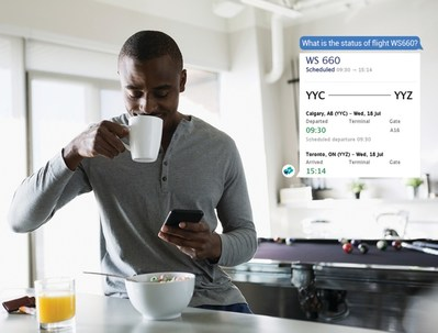 WestJet's chatbot on Facebook Messenger enables guests to discover destinations, book trips and receive instant support. (CNW Group/WESTJET, an Alberta Partnership)