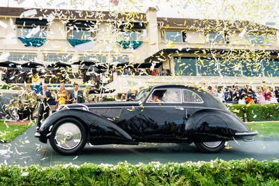 A 1937 Alfa Romeo 8C 2900B Touring Berlinetta took the top prize in the collector car world: Best of Show at the Pebble Beach Concours d'Elegance.