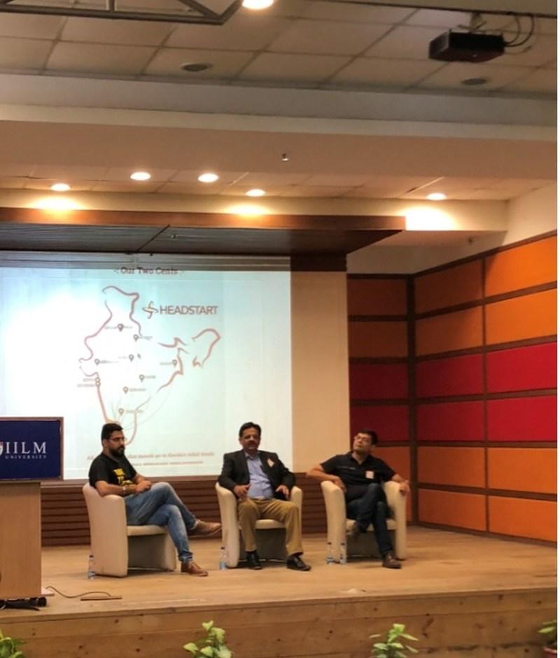 Panelists from L to R: Ojasvi Bhatia (City Lead-Gurgaon, Headstart Network Foundation), Shailendra Ahuja (Director, Aviant Capital Advisors) and Abhishek Mohan (Vice President, Sequioa). (PRNewsfoto/IILM Education Trust)