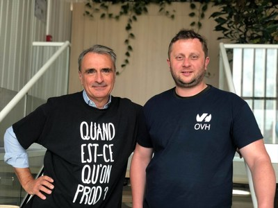 Michel Paulin (left), Chief Executive Officer of OVH Group, and Octave Klaba, founder and Chairman of the Board (CNW Group/OVH)