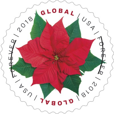Poinsettias are as much a part of the holidays as evergreens and mistletoe and now appear on a Forever stamp to celebrate the 2018 holiday season.