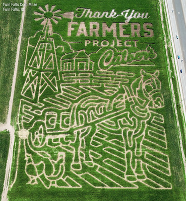 One of the five Thank You Farmers Project corn mazes grown with Culver's in 2018.