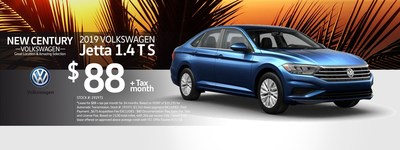 The 2019 Volkswagen Jetta is available for lease payments as low as $88 per month.