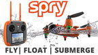 Spry Drone can fly, submerge and navigate like a boat.