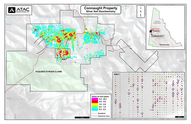 CN Property - Silver Soil Geochemistry (CNW Group/ATAC Resources Ltd.)