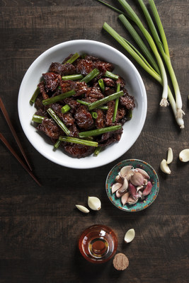 P.F. Chang's Mongolian Beef is made from scratch using hand-sliced beef and Muranaka Farm green onions.
