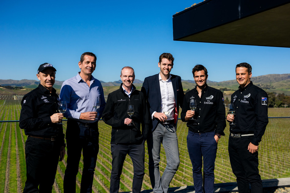 Teams from Emirates Team New Zealand and Brancott Estate