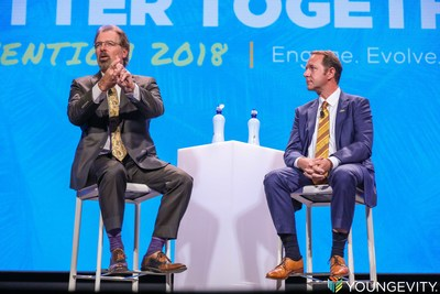 Youngevity President/CFO Dave Briskie and CEO Steve Wallach cast the vision for the coming year at the company's 2018 Convention in San Diego, Californa