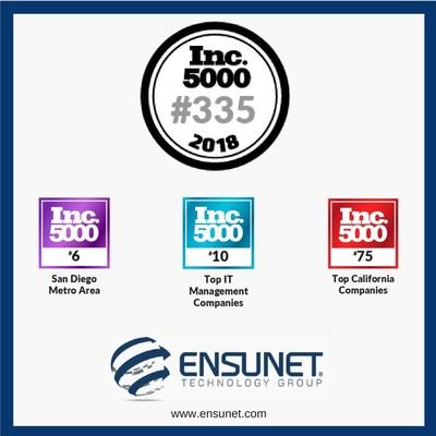 Ensunet Makes the 2018 Inc. 5000 List