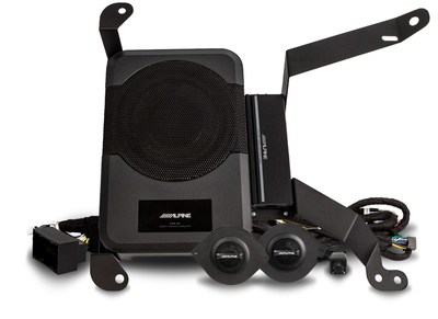 Alpine's PSS-23WRA includes a subwoofer and amplifier pre-assembled on a bracket for easy installation.
