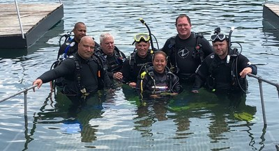 Warriors connect during Wounded Warrior Project scuba certification class.