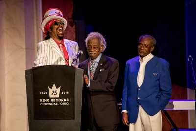 From left to right: Bootsy Collins, Otis Williams, Philip Paul. Photo by Brittany Thorton.