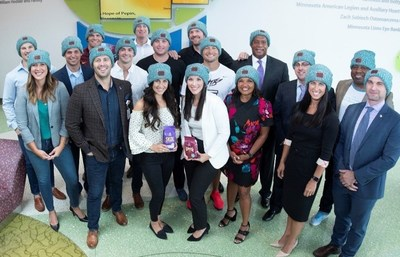 Leadership Members from Caribou Coffee, the Minnesota Vikings, the Minnesota Gophers and Love Your Melon, Joining Forces To Support University of Minnesota's Masonic Children's Hospital.