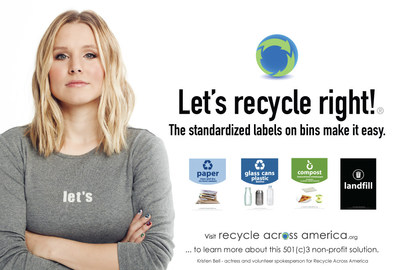 To learn more about the society-wide standardized label solution, visit www.RecycleAcrossAmerica.org