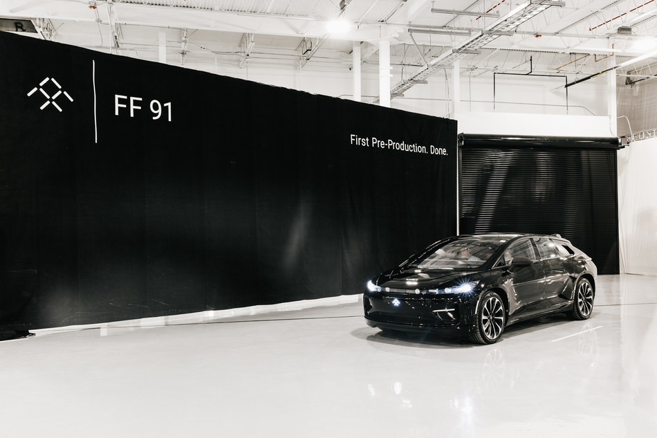 A big day for Faraday Future: first pre-production FF 91 ultra-luxury EV has been completed.