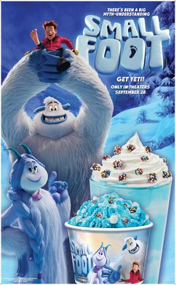 Yummy Yeti Confetti™ – Blue Arctic Marshmallow Ice Cream, Rainbow Chocolate Drops, Marshmallows and dusted with Powdered Sugar ; Migo's Marshmallow Medley Milkshake™ - Blue Arctic Marshmallow Ice Cream, garnished with Whipped Topping and Rainbow Chocolate Drops
