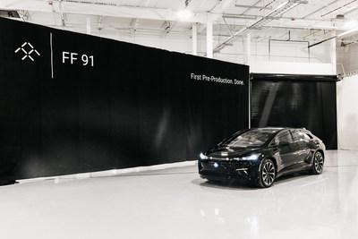 Une journée importante pour Faraday Future : la première préproduction de la FF 91, un véhicule électrique de très grand luxe, a été achevée.
